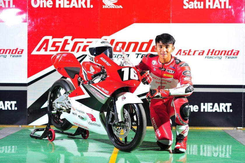 AHM menurunkan satu pebalap AHRT di kelas CEV Moto3 Junior World Championship, yaitu Mario Suryo Aji